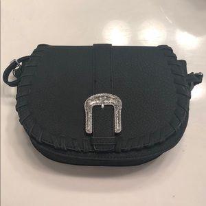 Never used black saddle handbag